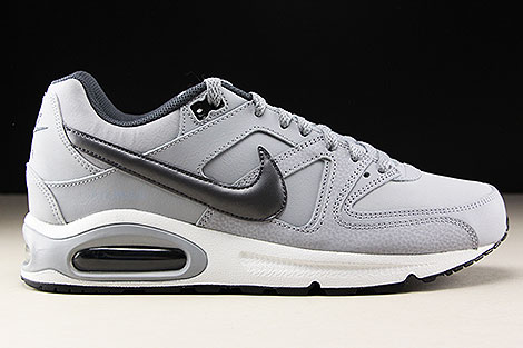 713d7f165 ... Nike Air Max Command Leather Wolf Grey Metallic Dark Grey Black Right  ...