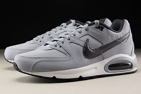 Nike Air Max Command Leather Grau Dunkelgrau Schwarz Seitendetail