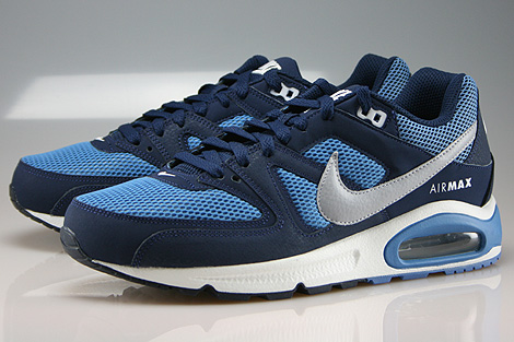 Nike Air Max Command Midnight Navy Wolf Grey Horizon Sidedetails