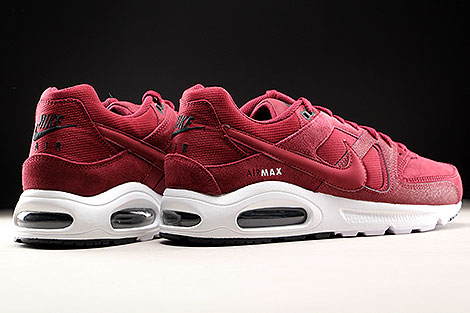 Nike Air Max Command Premium Team Red Black White Back view