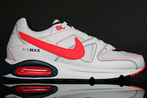 Nike Air Max Command White Solar Red Obsidian