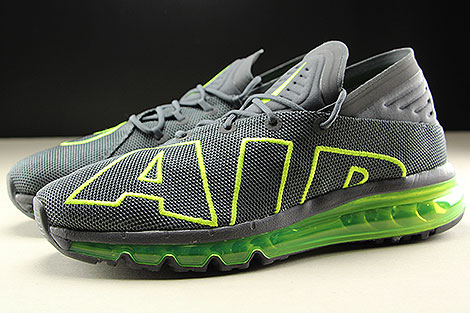 Nike Air Max Flair Dark Grey Volt Dark Grey Profile