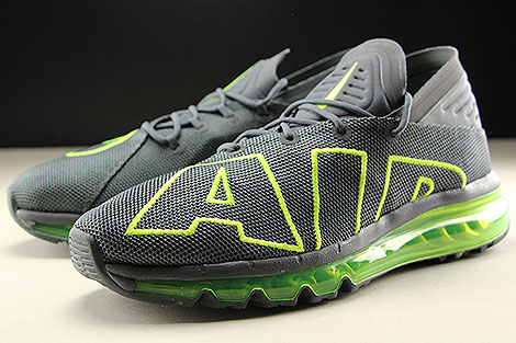 Nike Air Max Flair Dark Grey Volt Dark Grey Sidedetails