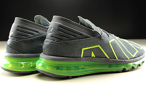 Nike Air Max Flair Dark Grey Volt Dark Grey Back view
