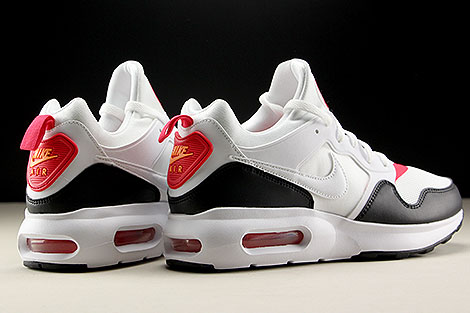 Nike Air Max Prime White Siren Red Black Back view