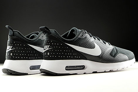 Nike Air Max Tavas Black White Black Back view
