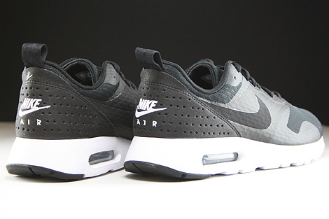 Nike Air Max Tavas Essential Black Black White Back view