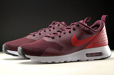 Nike Air Max Tavas Night Maroon Gym Red Black White Sidedetails