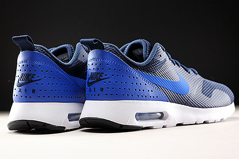 Nike Air Max Tavas Obsidian Hyper Cobalt Black Back view