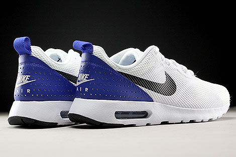 Nike Air Max Tavas White Black Paramount Blue Back view