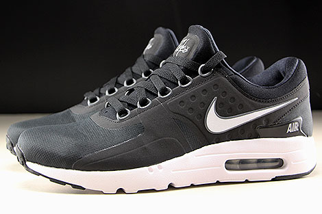 Nike Air Max Zero Essential Black White Dark Grey Profile