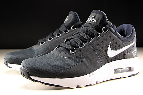 Nike Air Max Zero Essential Black White Dark Grey Sidedetails