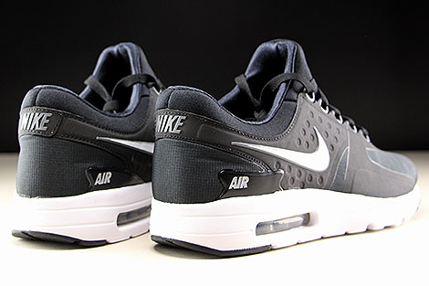 Nike Air Max Zero Essential Black White Dark Grey Back view