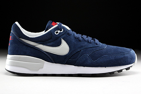 ... Nike Air Odyssey Leather Midnight Navy Neutral Grey University Red  Right ... 0011bf420f15