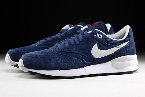 Nike Air Odyssey Leather Midnight Navy Neutral Grey University Red Profile