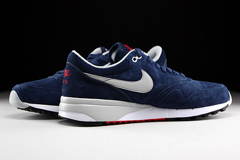 Nike Air Odyssey Leather Midnight Navy Neutral Grey University Red Inside