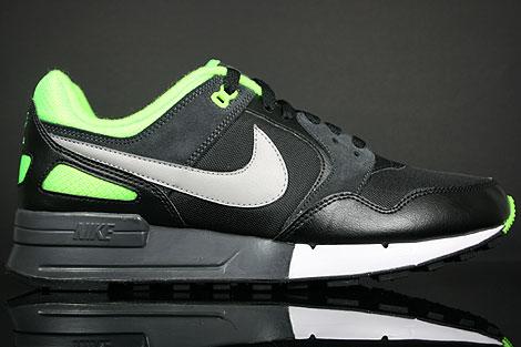 Nike Air Pegasus 89 Black Medium Grey Electric Green