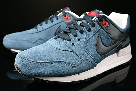 Nike Air Pegasus 89 New Slate Dark Obsidian University Red Sidedetails