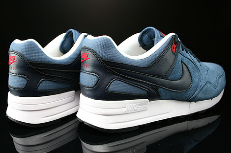 Nike Air Pegasus 89 New Slate Dark Obsidian University Red Back view