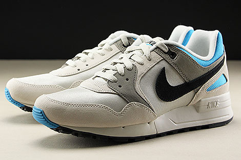 Nike Air Pegasus 89 Light Bone Black Vivid Blue Seitendetail