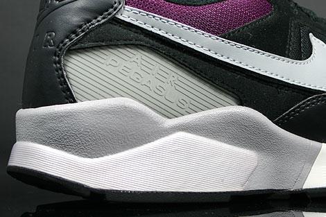 Nike Air Pegasus 92 Black Matte Silver Sangria Outsole