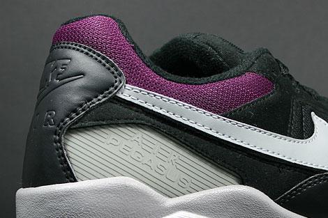 Nike Air Pegasus 92 Black Matte Silver Sangria Shoebox
