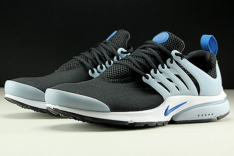 Nike Air Presto Essential Black Blue Jay Light Armory Blue Sidedetails
