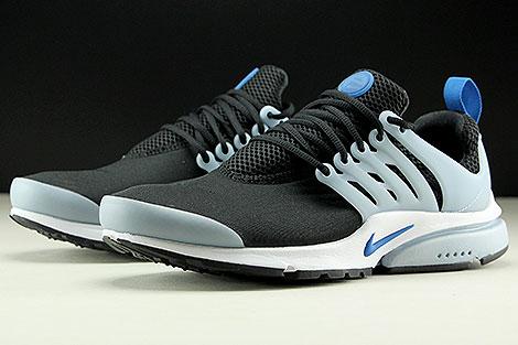 Nike Air Presto Essential Schwarz Blau Hellblau Weiss Seitendetail