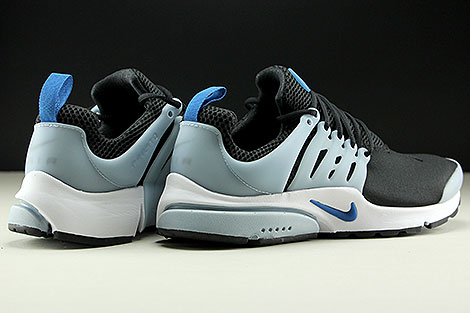Nike Air Presto Essential Black Blue Jay Light Armory Blue Back view
