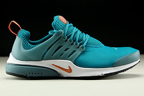 Nike Air Presto Essential Tuerkis Orange Weiss Rechts