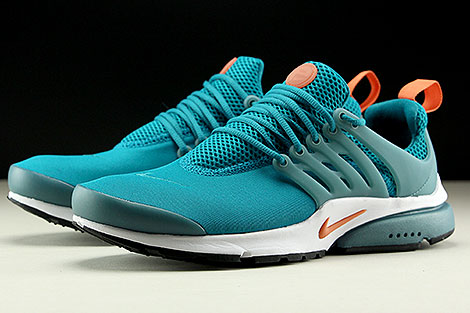 Nike Air Presto Essential Tuerkis Orange Weiss Seitendetail