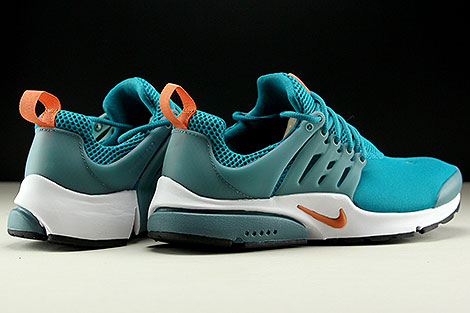 Nike Air Presto Essential Tuerkis Orange Weiss Rueckansicht