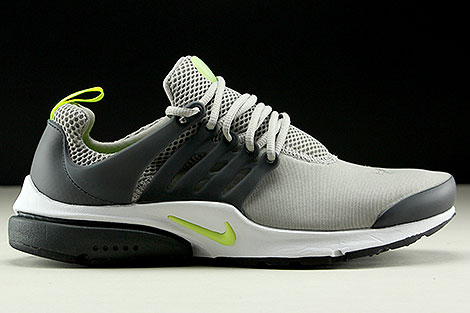 Nike Air Presto Essential Grau Neongelb Anthrazit