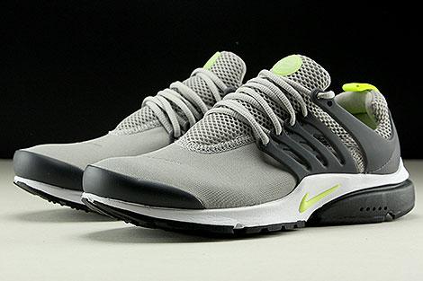 Nike Air Presto Essential Cobblestone Volt Anthracite Sidedetails
