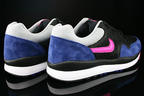 Nike Air Safari Black Pink Foil Deep Royal Blue Silver Back view