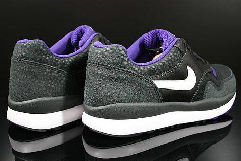 Nike Air Safari LE Anthracite White Black Purple Back view