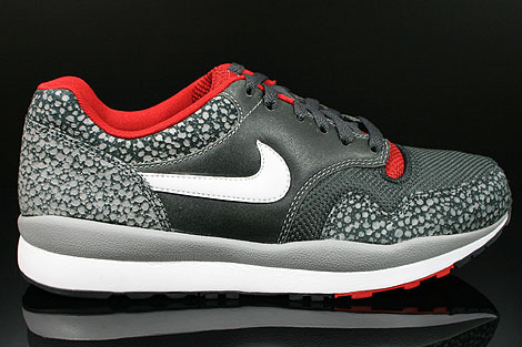 Nike Air Safari LE Metallic Silver White Anthracite Red Right