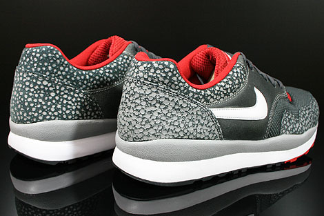 Nike Air Safari LE Metallic Silver White Anthracite Red Back view