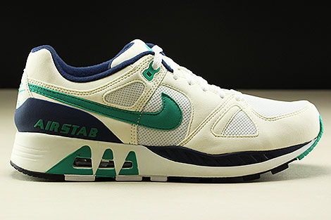 Nike Air Stab  White Emerald Green Sail Midnight Navy