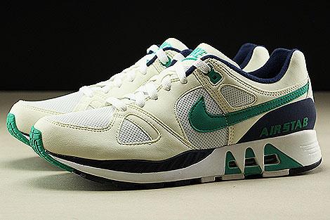 Nike Air Stab  White Emerald Green Sail Midnight Navy Seitenansicht