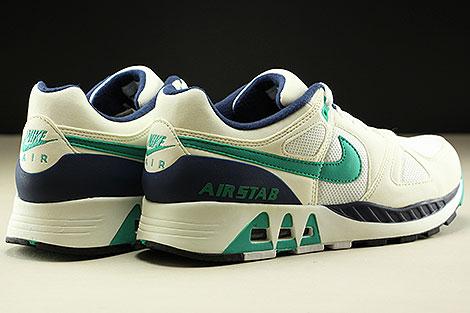 Nike Air Stab  White Emerald Green Sail Midnight Navy Back view