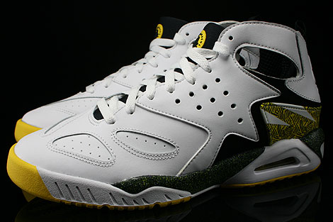Nike Air Tech Challenge Huarache White Black Tour Yellow Profile