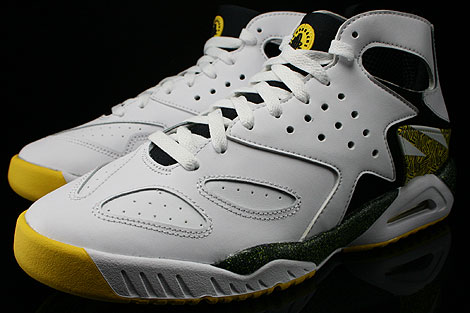 Nike Air Tech Challenge Huarache White Black Tour Yellow Sidedetails
