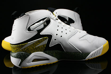 Nike Air Tech Challenge Huarache White Black Tour Yellow Inside