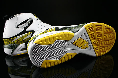 Nike Air Tech Challenge Huarache White Black Tour Yellow Outsole
