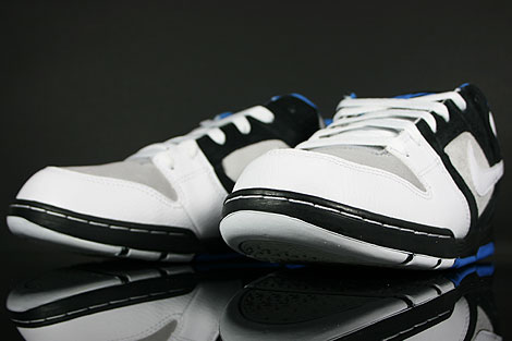 Nike Air Twilight Black White Platinum Italy Blue Back view