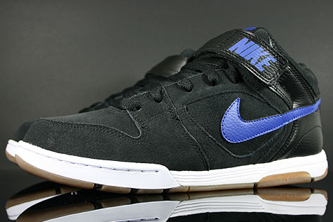 Nike Air Twilight Mid Black Drenched Blue Sidedetails