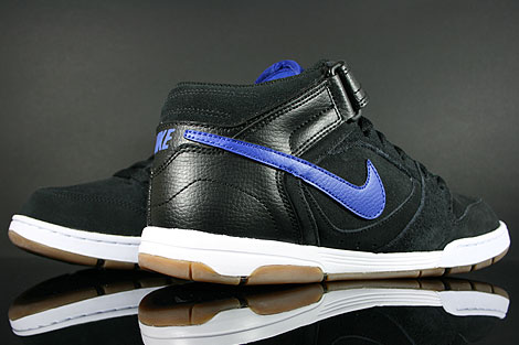 Nike Air Twilight Mid Black Drenched Blue Back view