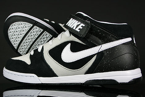 Nike Air Twilight Mid Black White Platinum Back view