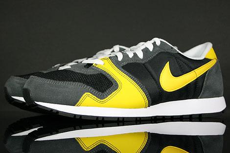Nike Air Vengeance Schwarz Gelb Grau Weiss Seitendetail